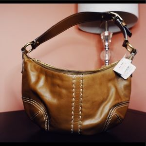 Coach small leather hobo shoulder bag